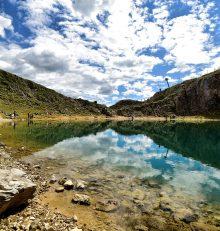 Il lago Boè, uno smeraldo tra le rocce